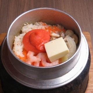 明太バター釜飯